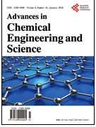 Advances in Chemical Engineering and Science 化学工程与科学研究进展